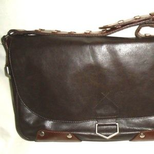 adjustable studed strap sling cross bodybag